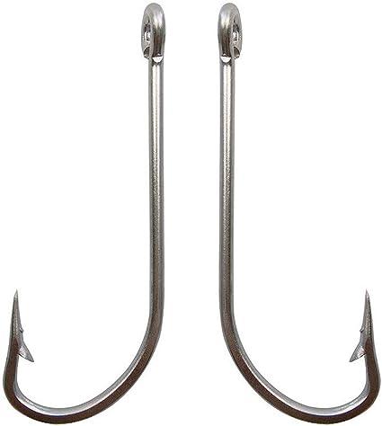 Lot 50pcs Baitholder Hook Jig Big Black HIgh Carbon Steel Fishing Hooks 1#-7//0#