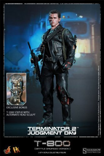 Hot Toys - Terminator 2 DX 1 6 T-800 Battle Damaged Special Edition