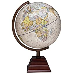 Waypoint Geographic Peninsula 12 inch Globe with Stand - Over 4,000 UP-TO-DATE Points of Interest - Pagoda Style Stand & Politically Styled World Globe for Home, Office & Classroom