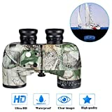 HUTACT Military Binoculars for Adults, Compact 10x50 for Long Distance, with Compass Measurement Direction, Built-in...