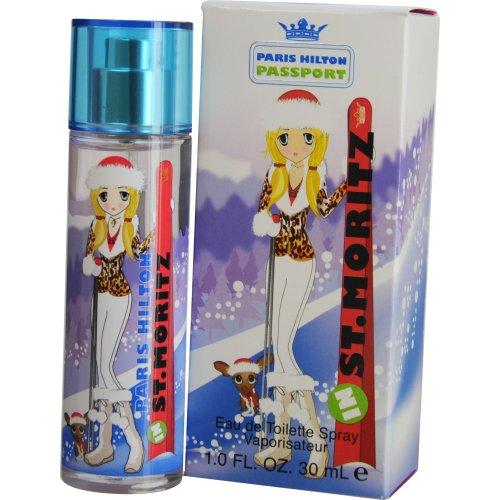 Price comparison product image Paris Hilton Passport St. Moritz Eau De Toilette Spray for Women,  1 Ounce