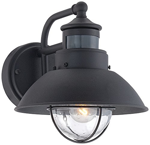 Oberlin 9H Black Dusk to Dawn Motion Sensor Outdoor Light