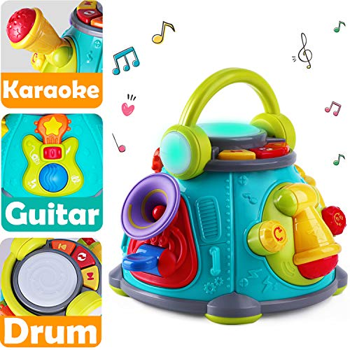 iPlay, iLearn Baby Music Activity Cube Play Center, Kids Musical Singing Sensory Toys, Lights 'n Sounds, Educational Rhyme Gift for 9, 12, 18 Months, 1, 2, 3 Year Olds, Infants, (Best Summer Infant Toddler Cds)