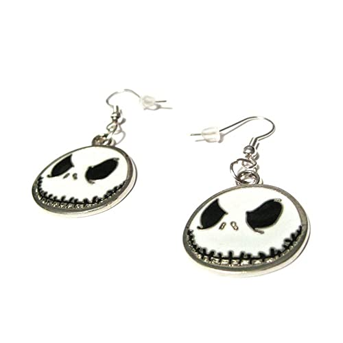 Nightmare Before Christmas In French.Jack Skellington Nightmare Before Christmas French Hook Silver Plated Earrings