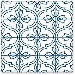 Azul Talavera patrón decorativo Ilustration brillante azulejos de cerámica baño cocina pared piedra decoración de manualidades regalo, Mediano