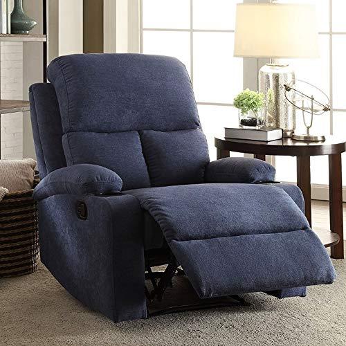Furny Elisse Single Seater Recliner  Dark Blue