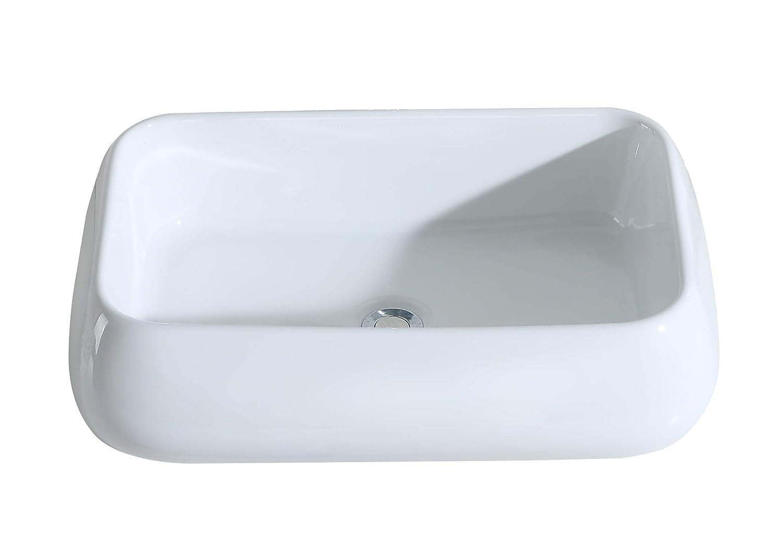 lavabo sobre encimera 60 cm lavabo de dise/ño lavabo sobre encimera de cer/ámica Eridanus Serie Laza