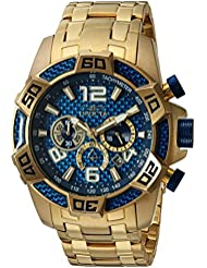 Invicta Mens Pro Diver Quartz Stainless Steel Diving Watch, Color:Gold-Toned (Model: 25852)