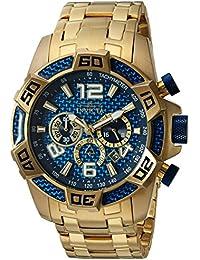 Men's 'Pro Diver' Quartz Stainless Steel Diving Watch, Color:Gold-Toned (Model: 25852)