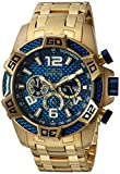 Invicta Men's Pro Diver Quartz Diving Watch with Stainless-Steel Strap, Gold, 26 (Model: 25852