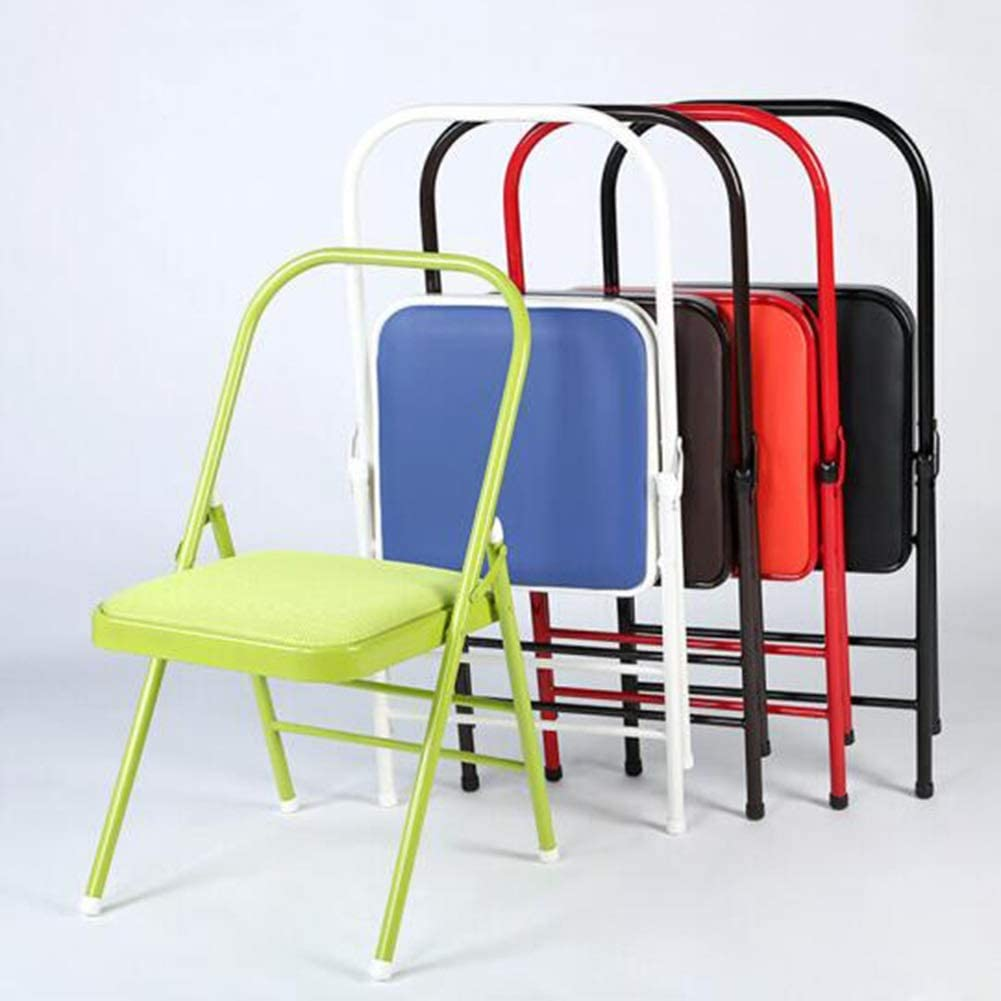 ZHF-Sun Recliners Folding Chairs Friends of Meditation Chair for Yoga Prop for Yoga asana and Restorative Yoga Backless Color : Black