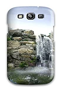Excellent Design Japan Digital Waterfall Phone Case For Galaxy S3 Premium Tpu Case