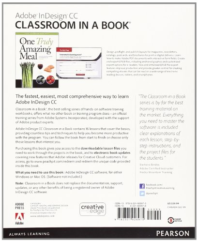 Classroom Design And Delivery : Adobe indesign cc classroom in a book