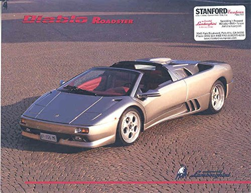 Amazon Com 1995 1996 Lamborghini Diablo Vt Roadster Brochure