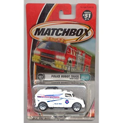 Matchbox 1999-51/75 Police WHITE Police Robot Truck 1:64 Scale by Matchbox: Toys & Games