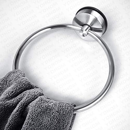YOHOM Suction Cup Towel Ring Toallero de Aro, Toallero Anillo Baño ...