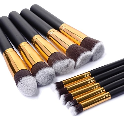 Makeup Brushes Set Malasiara 11pcs Cosmetic Brush Foundation Blending Blush Concealer Eye Face Lip Brushes for Powder Liquid Cream Complete Makeup Brush Kit Synthetic Bristles