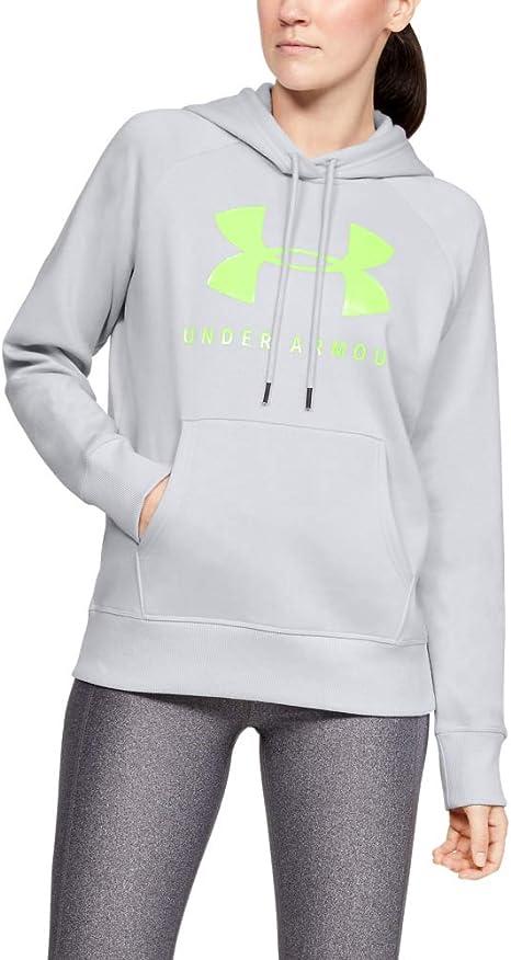 2020 Under Armour Damen Rivale Vlies Sport Stil Ua Grafik Logo Kapuzenpullover