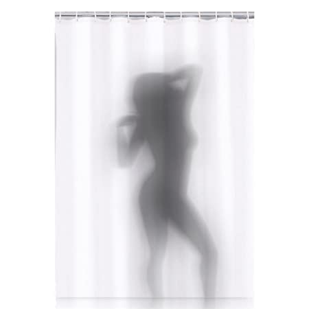 Shower Curtain   Sexy Shadow   Naked Woman In The Shower