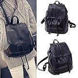 Hemlock Rucksack Backbag, Women Girl Travel School Bag Shoulder Bags (Black)