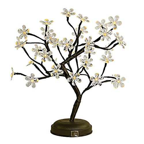 36 Crystal Flower Lighted Led Branches