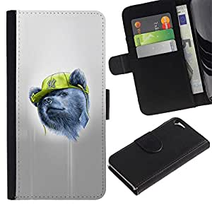 All Phone Most Case / Oferta Especial Cáscara Funda de cuero Monedero Cubierta de proteccion Caso / Wallet Case for Apple Iphone 5 / 5S // Gangsta Bear