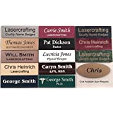 Business Name Tag / ID Badge Personalized - Laser Engraved, Magnetic backing - copper or choose color and size