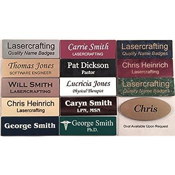amazon com custom name badges name tags 1 5 x 3 up to three