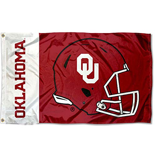 College Flags and Banners Co. Oklahoma Sooners Football Helmet Flag ()