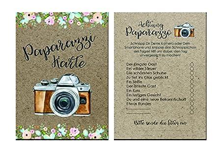 Fotokarten Hochzeit 50 Stück Fotoralley Hochzeitsspiel Amazon De