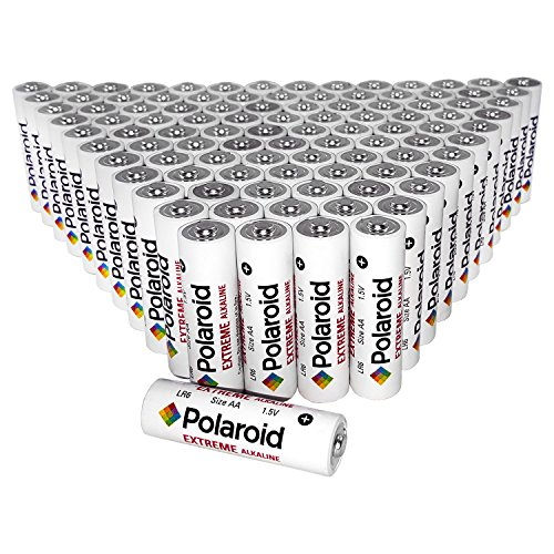 Polaroid AA Extreme Alkaline Batteries (100 Pack)