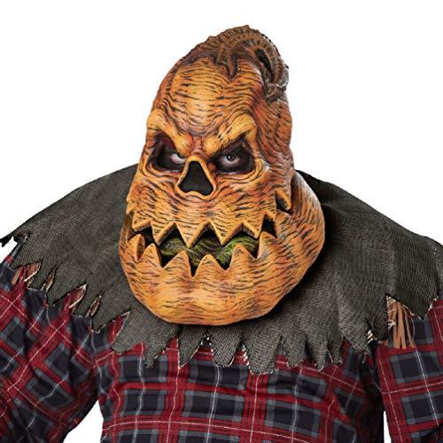 Adult Psycho Jack o Lantern Pumpkin ANI-Motion Costume Mask ()