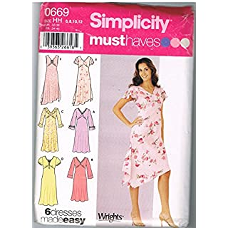 Simplicity 0669 Six Must Have Dresses Made Easy