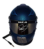 AUTOGRAPHED 2017 Dale Earnhardt Jr. #88 Nationwide Racing BLUE SKULL DESIGN (Hendrick Motorsports) Monster Energy Cup Series Signed Lionel NASCAR Replica Full-Size Helmet with COA from Trackside Autographs