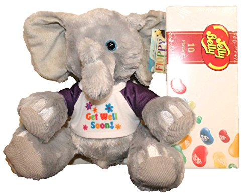 "Get Well Gifts - 7"" Cuddly Get Well Elephant Plush Gift Set"
