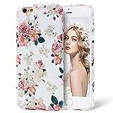 iPhone 6s Plus Case, Imikoko™ Protective Retro Vintage Floral Print Flower Pattern Hard High Impact Slim Protective Case For iPhone 6s/6 Plus (Pattern A)