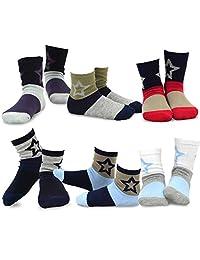 TeeHee Kids Boys Fashion Fun Cotton Crew Socks 6 Pair Pack