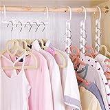 MinGe Wonder Triple Closet Hanger Space Saver Cloth Organizer Magic Wardrobes Display Storage
