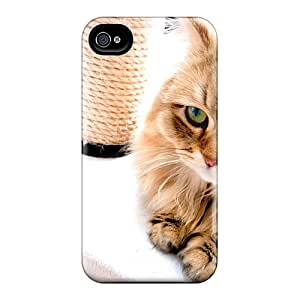 Perfect Fluffy Feline Case Cover Skin For Iphone 4/4s Phone Case