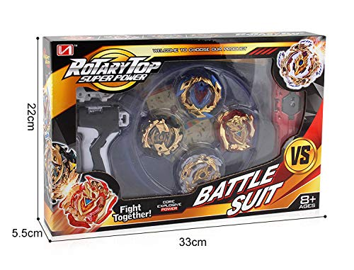 Bey Battle Burst God Evolution Battling Top Fusion Metal Master Rapidity Fight with 4D Launcher Grip Set