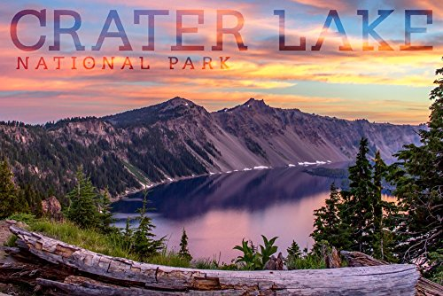 Crater Lake National Park, Oregon - Early Morning (12x18 Art Print, Wall Decor Travel Poster)