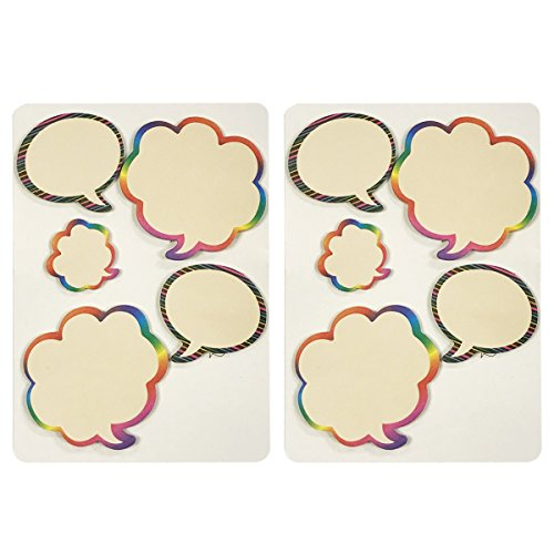 Wrapables Rainbow Thinking Bubble Sticky Notes (Set of 2) by Wrapables