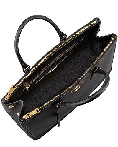 Prada Women\u0026#39;s Tote Bag Saffiano Leather in Black Style BN1802 ...