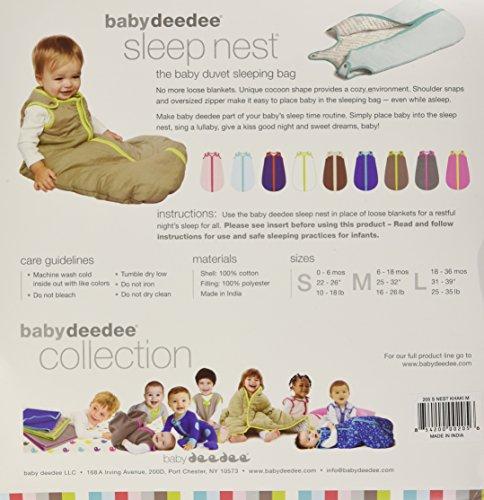 Baby Deedee Sleep Nest Baby Sleeping Bag, Khaki/Lime Green, Medium (6-18 Months)