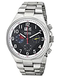 Fossil CH2909 Men's Qualifier Chronograph Black Dial Stainless Steel Watch