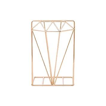 R-Weichong - Atril para libros de mesa (hierro, forma de rombos ...