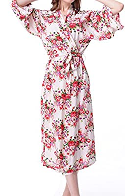 Mr & Mrs Right Bridesmaid Robes Women Cotton Floral Bridal Kimono Robes For Getting Ready Robes,Long Sleeves Sleepwear