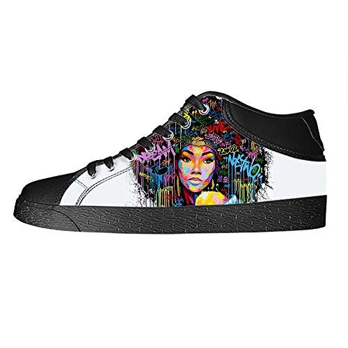 Dalliy African woman Mens Canvas shoes Schuhe Lace-up High-top Sneakers Segeltuchschuhe Leinwand-Schuh-Turnschuhe E