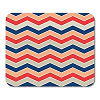 HZMJPAD Gaming Mouse Pad Red Accessory Chevron Pattern Blue Rain Boots White Umbrella USA Zig Zag 8.6 X 7.1 in Decor Office Computer Accessories Nonslip Rubber Backing Mousepad Mouse Mat