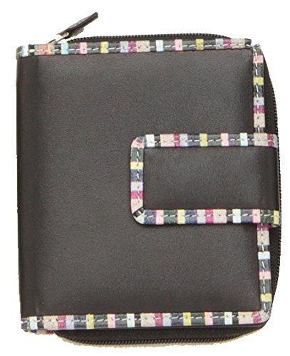 Rogner Lederwaren Women's MPC 3 Wallet, Grün (black) - MPC 3